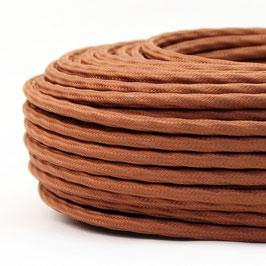 Textilkabel-Stoffkabel lehmbraun 4-adrig 4x0,75 extra dünn