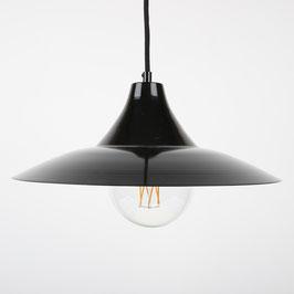 Vintage Lampenschirm Metall schwarz 13x37,5mm Textilkabel mit E27 Fassung