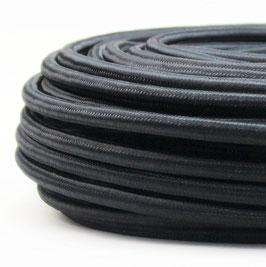 Textilkabel schwarz 3-adrig 3x1,5 mm² Gummischlauchleitung 3G 1,5 H05VV-F textilummantelt