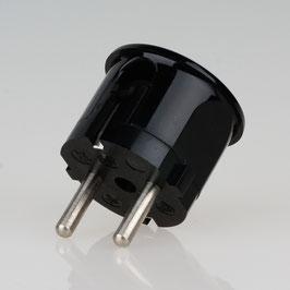 Schutzkontakt-Stecker Winkelstecker schwarz 250V/16A