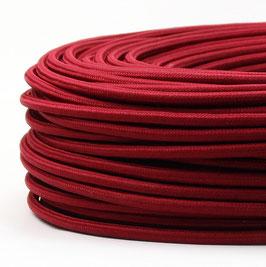 Textilkabel Stoffkabel bordeaux 3-adrig 3x0,75 Schlauchleitung 3G 0,75 H03VV-F