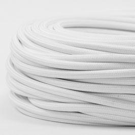 Textilkabel Stoffkabel weiß 3-adrig 3x0,75 Schlauchleitung 3G 0,75 H03VV-F