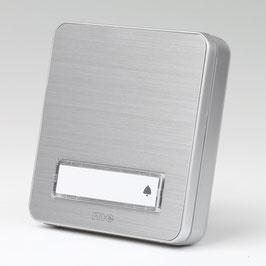 Klingeltaster Klingelplatte silber Aluminium gebürstet für Aufputz Montage