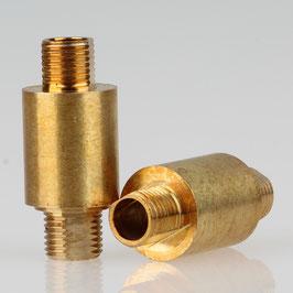 Lampen Dreh-Gelenk 16x36mm Messing roh M10x1 Außengewinde