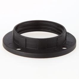 E14 Unterring Schraubring Thermoplast schwarz 43x10mm für Kunststoff Fassung