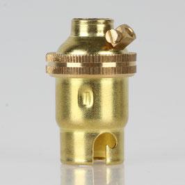 B15d Bajonett Metall Lampenfassung vermessingt M10x1 Innengewinde Erdungspol