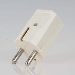 zwei Erdleitersystem Schutzkontakt-Stecker weiß 250V/16A