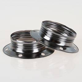 E27 Unterring Schraubring Metall schwarz-chrom 60x18 mm für Metallfassung