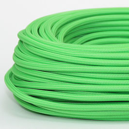 Textilkabel Stoffkabel kiwigrün 3-adrig 3x0,75 Schlauchleitung 3G 0,75 H03VV-F
