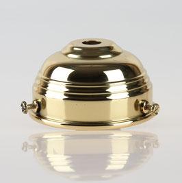 Lampenschirm Glashalter 70x39mm Messing poliert für E14 und E27 Fassung