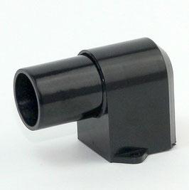 E14 Möbel-Einbau Winkelfassung schwarz 250V/2A