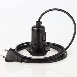 PVC Lampenpendel E27 Bakelit Fassung Teilgewindemantel Schalter 1-10 Meter