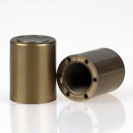 Abschlussknopf 14x18mm Kunststoff gold M10x1 Innengewinde
