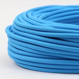 Textilkabel Stoffkabel hellblau 3-adrig 3x0,75 Schlauchleitung 3G 0,75 H03VV-F