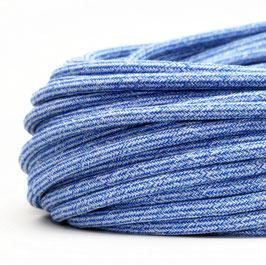 Textilkabel Stoffkabel Jeans-Muster 3-adrig 3x0,75 Zug-Pendelleitung S03RT-F 3G0,75