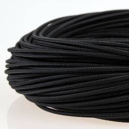 Textilkabel Stoffkabel schwarz 1 adrig 1x0,75 Einzeladerleitung