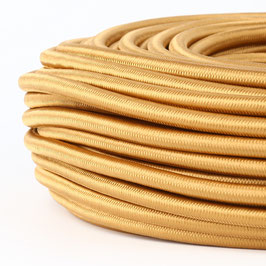 Textilkabel gold 5-adrig 5x0,75 mm² mit Stahlseil als Zugentlastung