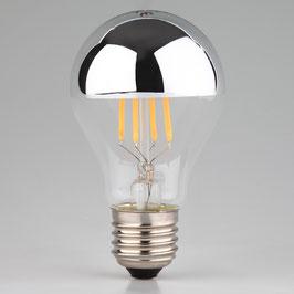 Sigor LED Filament Kopfspiegellampe silber 7W/230V AGL-Form klar E27 Sockel warmweiß