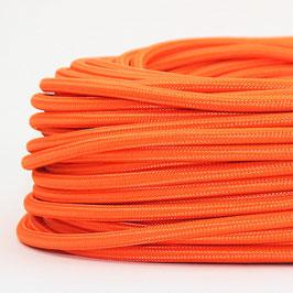 Textilkabel Stoffkabel orange 3-adrig 3x0,75 Schlauchleitung 3G 0,75 H03VV-F