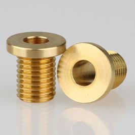 Trompeten-Nippel 12x12 Messing M8x1x10 ohne Verdrehschutz