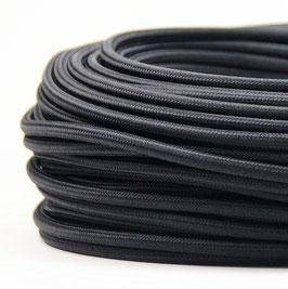 Textilkabel Stoffkabel schwarz 3-adrig 3x0,75 Schlauchleitung 3G 0,75 H03VV-F