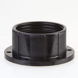 E27 Bakelit Schraubring schwarz 58x24 mm