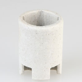 Aufbau-Porzellanfassung E14 weiß
