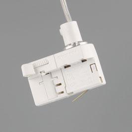 Euro-Adapter für 3-Phasen-Stromschiene weiß 10A/250V