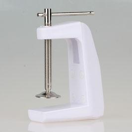 Ersatz-Tischklemme Metall weiß für Lupenleuchte