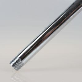 Pendelrohr Metall verchromt 25cm lang mit M13x1 Gewinde beidseitig