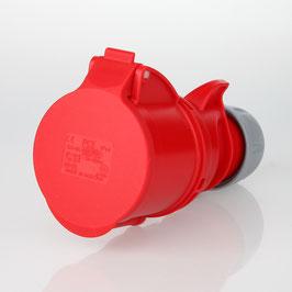 PCE CEE Kupplung 5-polig 32A/400V IP44 rot/grau