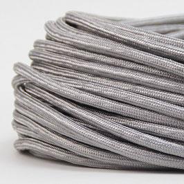 Textilkabel Stoffkabel silber 2-adrig 2x0,75 Zug-Pendelleitung S03RT-F