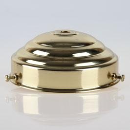 Lampenschirm Glashalter 111x45mm Messing poliert für E14 und E27 Fassung