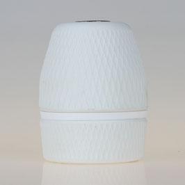 Porzellanfassung E27 matt weiß M10x1 Innengewinde