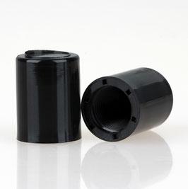 Abschlussknopf 14x18mm Kunststoff schwarz M10x1 Innengewinde