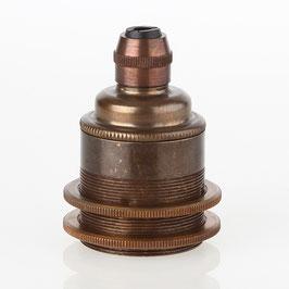 E27 Metall Vintage Lampen Fassung antik fume inkl. 2 Schraubringe