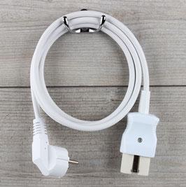 2,0m Gerätestecker Anschlussleitung weiß 3x1,0mm² für alte Toaster Bügeleisen Waffeleisen