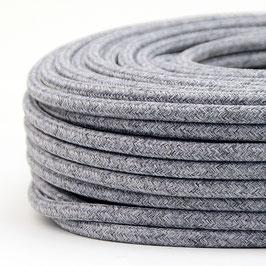 Textilkabel steingrau 2-adrig 2x0,75 Gummischlauchleitung textilummantelt