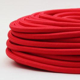 Textilkabel rot 3-adrig 3x1,5 mm² Gummischlauchleitung 3G 1,5 H05VV-F textilummantelt