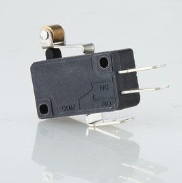 Mikroschalter Wechselschalter 1-polig 5A/250V AC mit kurzem Rollenhebel