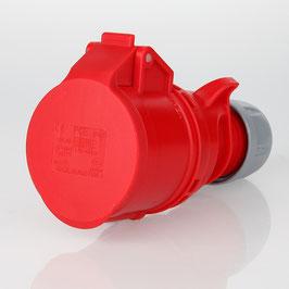 PCE CEE Kupplung 5-polig 16A/400V IP44 rot/grau