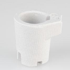Einbau-Porzellanfassung E14 weiß