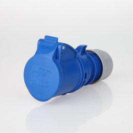 PCE CEE Kupplung 3-polig 16A/230V IP44 blau/grau