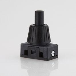 Lampen Einbauschalter Einbau-Druckschalter schwarz 250V/2A 12 mm Achse 1-polig