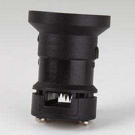 E27 Illu-Fassung Illumationsfassung schwarz mit Dichtring für Illu-Flachkabel
