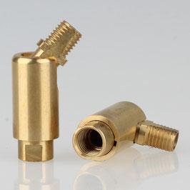 Lampen Dreh Kippgelenk messing roh M8x1 AG auf M8x1 IG 13x41mm