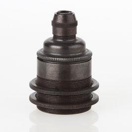 E27 Metall Vintage Lampen Fassung tiffany inkl. 2 Schraubringe