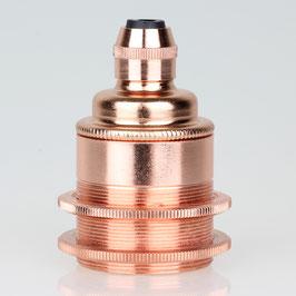 E27 Metall Vintage Lampen Fassung Nickel matt inkl. 2 Schraubringe