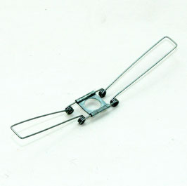 Lampenschirm Lampen Glashalter 16x140mm mit 2-fach Feder für alle E14 und E27 Fassungen geeignet