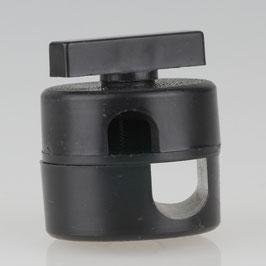Ersatz-Scheibengelenk Kunststoff schwarz M10x1 / M13x1 für Gelenkarm-Lampe aus den 70er Jahren